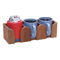 Whitecap Solid Teak Three-Mug Rack