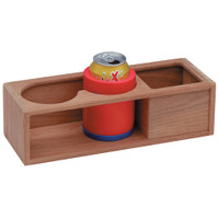 Whitecap Teak Two Insulated Drink/Binocular Rack w/Tray