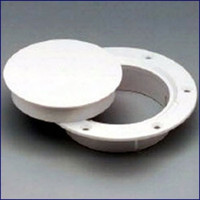 "Nicro N10863DW 3"" White Snap-in Deck Plate"