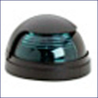 Attwood 5040G7 Green Bow Light Horizontal Deck Mount
