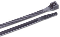 Ancor UV Black 6 inch Nylon Mounting Cable Ties 30lb - 100 pkg