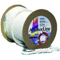 "Unicord White Twisted Nylon Anchor Line 5/8"" x 200'  300570"