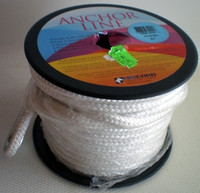 "Unicord White Double Braid Anchor Line 3/8""x100'"