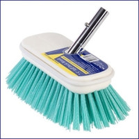 Swobbit SW77355 7.5 in Stiff Premium Deck Brush - Aqua