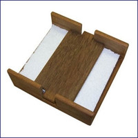 Whitecap Solid Teak Stay-Put Napkin Holder