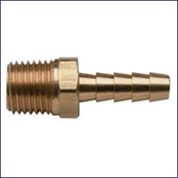 Moeller 033401-10 1/4 NPT x 1/4 in Brass Barb