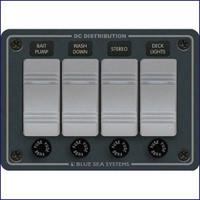 Blue Sea Systems 8262 Waterproof 4 Position-Slate Gray Horizontal 12VDC