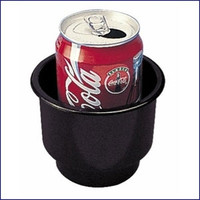 Sea Dog 588060 Large Flush Mount Black Drink Holder 4 in
