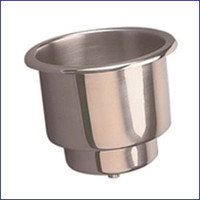 Sea Dog Large Stainless flush Mount drink Holder Drain Fitting