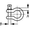 "Sea Dog Galvanized Screw-Pin Anchor Bow Shackle 1/4"" (147806-1),   5/16"" (147808-1),    3/8"" (147810-1)"