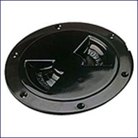 Sea Dog 337145-1 ABS Black Standard Deck Plate 4 in.