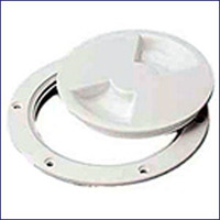 Sea Dog 337150-1 ABS White Standard Deck Plate 5 in.
