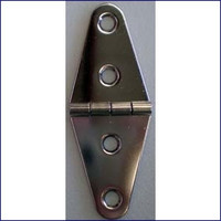 "Strap Hinge 1-1/2"" Chrome Plated"