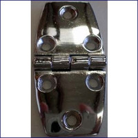 Door Hinge 1 1/2 in. Chrome Plated Zinc  WO-10053