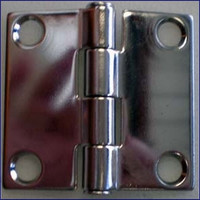 Flush Door Hinge 2 in. Stainless