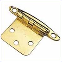 Flush Mount Concealed Hinge 1 3/4 in. Brass