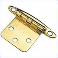 "Flush Mount Concealed Hinge 1-3/4"" Brass  WO-10064"