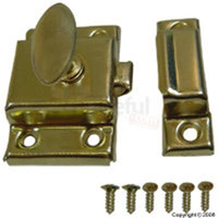 "Cupboard Turn Catch 1 3/4"" Brass WO-10080"