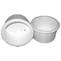 Shallow Flush Mount Recessed Off-White Drink Holder