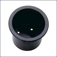 Insulated Drink Holder Black 2 1/4 in Deep