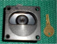 2 1/4 in. Square Locking Latch Black Nylon