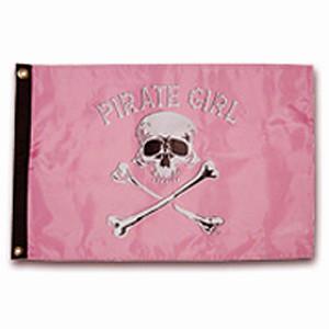 "Taylor Made 12"" x 18"" Pirate Head Nylon Flag - Pirate Girl"