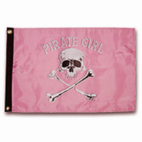 "Taylor Made 12"" x 18"" Pirate Head Nylon Flag - Pirate Girl"