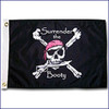 """Taylor Made 12"""" x 18"""" Pirate Head Nylon Flag - Surrender Booty  1805"""