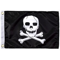 Taylor Made 12 x 18 Jolly Roger Flag  1818