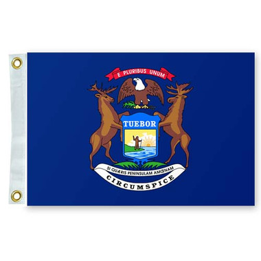 """Taylor Made 12"""" x 18"""" State of Michigan Flag  93108"""