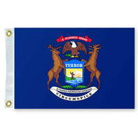 "Taylor Made 12"" x 18"" State of Michigan Flag  93108"