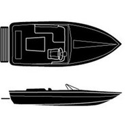 "Attwood Boaters Best Poly Cover Tournament Style Ski Boat 20.6' 90""  15416"