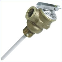"Camco 3/4"" Temperature and Pressure Relief Valve with 4"" Probe  10473"