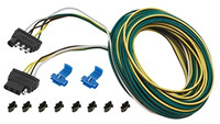 Cequent 707104 4 Way Flat Connector 30' Trailer End, Wishbone Harness Kit w/Hardware