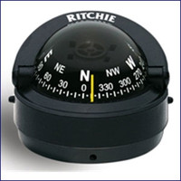 Ritchie S-53 Explorer Surface Mount Compass 2 3/4 in Dial