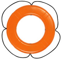 Taylor Made 571 30 in. Polyethylene SOLAS Ring Buoy