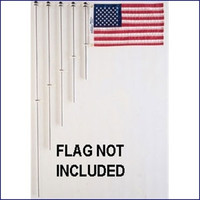 Taylor Made 916 3/4 in Aluminum 24 in Flag Pole Charlevoix Clips