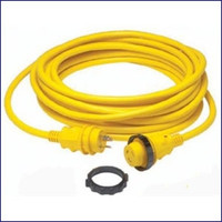 Marinco 199117 30 Amp Cordset LED Ergo Grip - 25ft - Yellow