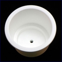 Plasform 1164 Large Drink Holder with Center Drain White