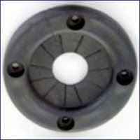 Plasform 1099 4.375 in Black Rope Cable Grommet