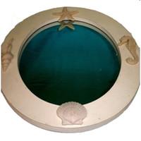Oval Seashell Mirror