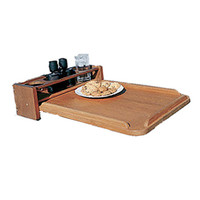 Whitecap Removable Teak Cockpit Table/4-Drink Holder