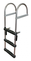 JIF Marine 4-Step Pontoon Transom Ladder