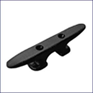 "Sea Dog 10"" Black Nylon Heavy Duty Open Base Cleat  043390-1"