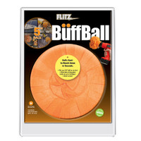 "Flitz Large Orange 5"" Clamshell Buff Ball"