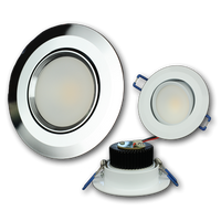 "Lunasea Recessed 3.5"" 5W COB LED w/White Trim LLB-56WW-01-WH"