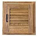 Whitecap Teak Louvered Door and Frame Right Opening - 15x15 or 15X20