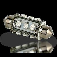 Lunasea Pointed Festoon 9 LED Light Bulb - 42mm   LLB-18LC-21-01