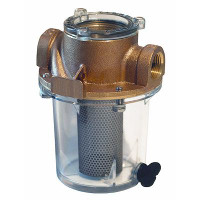 "Groco Raw Water Strainer with #340 SS Basket 3/4"" Short ARG-755-S"