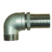 "Groco NPT Treads Stainless Steel Pipe to Hose Fitting, 3/4"", 1"", 1-1/4"", 1-1/2"", PTH-750-S, PTH-1000-S, PTH-1250-S, PTH-1500-S, PTHC-750-S, PTHC-1000-S, PTHC-1250-S"